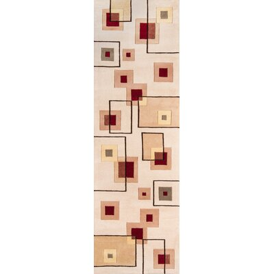 Covington Hand-Tufted Ivory Area Rug Rug Size: Rectangle 53 x 8