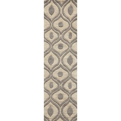 Ella Hand-Tufted Gray Area Rug Rug Size: Runner 23 x 8