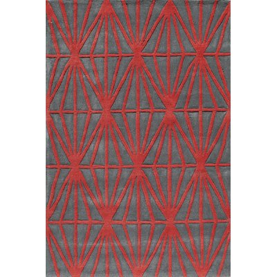 Fowler Hand-Tufted Red Tufted Rug Rug Size: Rectangle 36 x 56