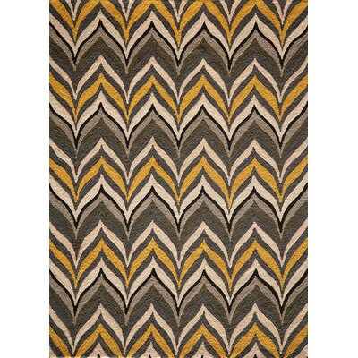 Willa Handmade Yellow Area Rug Rug Size: 5 x 7
