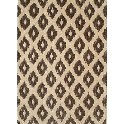 Curtis Hand-Tufted Khaki Area Rug Rug Size: Rectangle 76 x 96