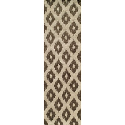 Curtis Hand-Tufted Khaki Area Rug Rug Size: Runner 23 x 8