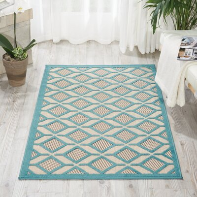 Decatur Hand-Woven Blue Area Rug Rug Size: Rectangle 53 x 75