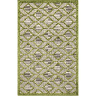 Taschen Green Indoor/Outdoor Area Rug