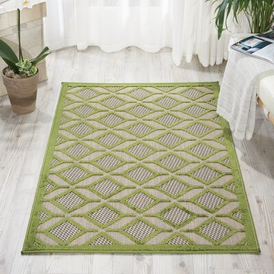 Blane Green Indoor/Outdoor Area Rug Rug Size: Rectangle 28 x 4