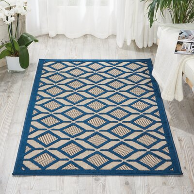 Decatur Navy Indoor/Outdoor Area Rug Rug Size: 36 x 56