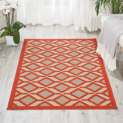 Taschen Red Indoor/Outdoor Area Rug