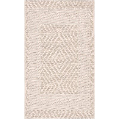 Yard Creek Beige Outdoor Area Rug