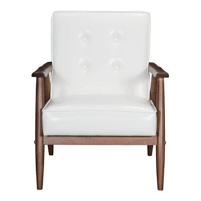 North Charleston Armchair Upholstery: White