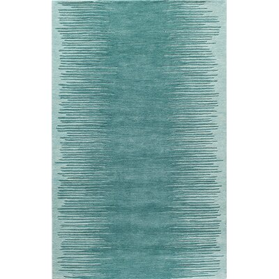 Mable Creek Hand-Tufted Aqua Area Rug Rug Size: 5 x 8