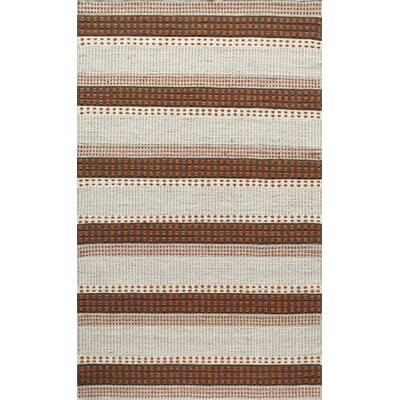 Althea Hand-Woven Rust Area Rug Rug Size: Runner 23 x 8