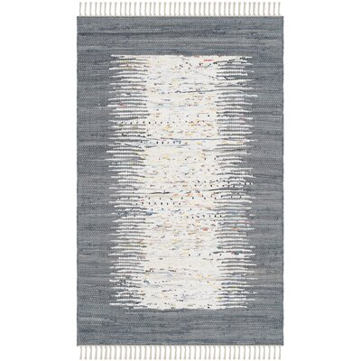 Jameson Contemporary Hand-Woven Ivory/Gray Area Rug Rug Size: Rectangle 26 x 4