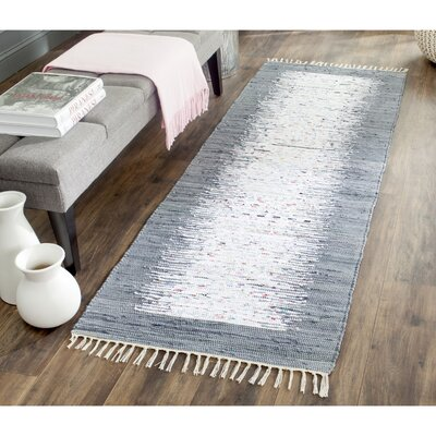 Amacker Ivory/Grey Contemporary Area Rug Rug Size: Runner 23 x 9