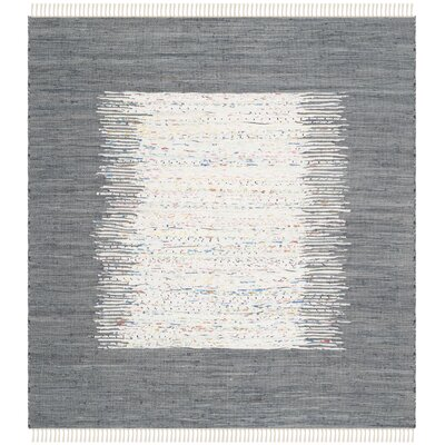 Jameson Contemporary Hand-Woven Ivory/Gray Area Rug Rug Size: Square 6