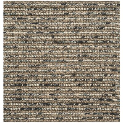 Alvin Bell Blue Area Rug Rug Size: Square 4