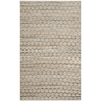 Martha Hand Woven Black/Natural Area Rug Rug Size: Rectangle 8 x 10