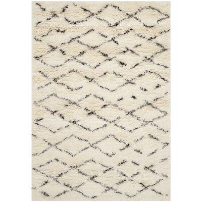 Bermondsey Ivory Shag Area Rug Rug Size: 10 x 14