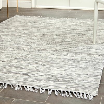 Alcurve Indoor/Outdoor Silver Area Rug Rug Size: 26 x 4