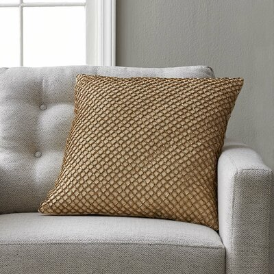 Wehner Beaded Diamond Rope 100% Cotton Pillow Cover