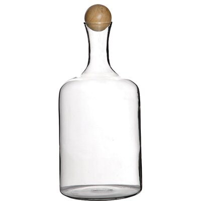 Clear Glass Decorative Bottle Size: 11