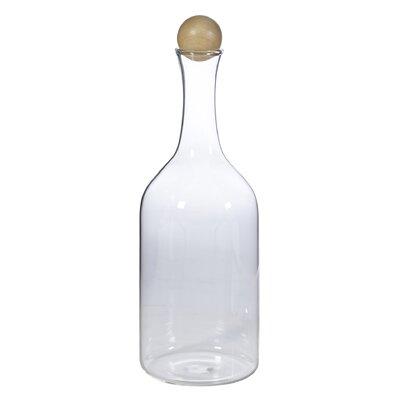 Clear Glass Decorative Bottle Size: 13