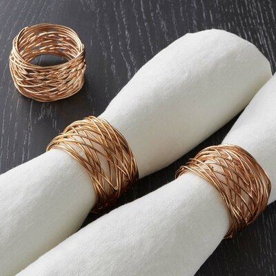 Round Wire Napkin Rings Color: Copper LGLY4475 34272359