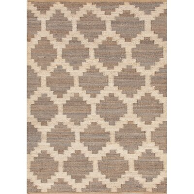 Aldred Lake Hand-Woven Grey Area Rug Size: Rectangle 8 x 10