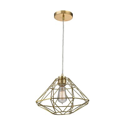 Alcorn Lake 1-Light Mini Pendant Finish: Gold