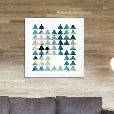 'Geometric Forest' Framed Graphic Art Size: 12