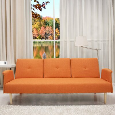 Cooper Sleeper Sofa Upholstery: Dark Orange