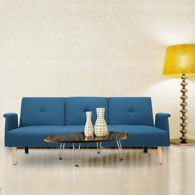 Cooper Sleeper Sofa Upholstery: Royal Blue