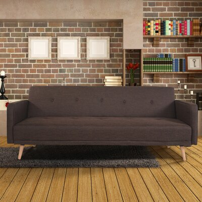 Daphne Sleeper Sofa Upholstery: Brown