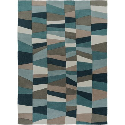 Carlotta Dried Oregano/Sea Blue Area Rug Rug Size: 8 x 11