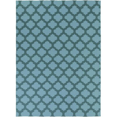 Hackbarth Hand-Woven Teal/Dark Green Area Rug Rug Size: 8 x 11
