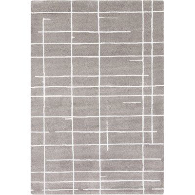 Sky Gray/White Area Rug Rug Size: Rectangle 5 x 8