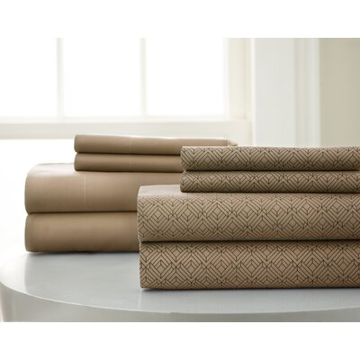 Halcott Microfiber Sheet Set Color: Taupe, Size: Queen