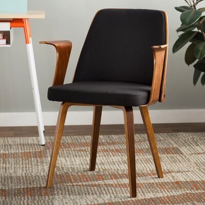 Twin Palms Arm Chair Upholstery: Black
