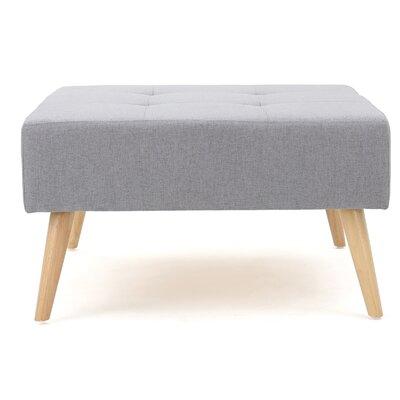 Alcurve Ottoman Upholstery: Light Gray