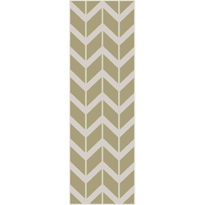 Robby Light Lime Area Rug Rug Size: Runner 26 x 8