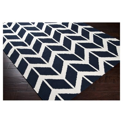 York Federal Blue Area Rug Rug Size: 36 x 56