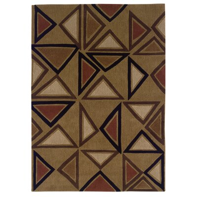 Opitz Hand-Tufted Camel/Brick Area Rug Rug Size: Rectangle 8 x 10