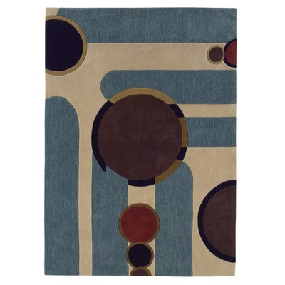Carrollton Hand-Tufted Blue Area Rug Rug Size: 5 x 7