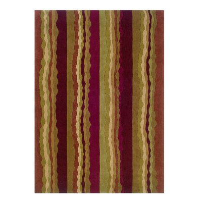 Allport Hand-Tufted Rust/Green Area Rug Rug Size: Rectangle 5 x 7