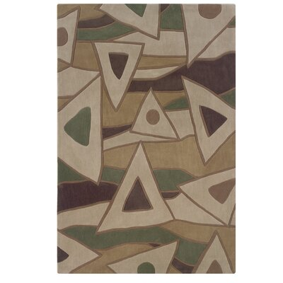 Carrollton Hand-Tufted Beige Area Rug Rug Size: Rectangle 5 x 7