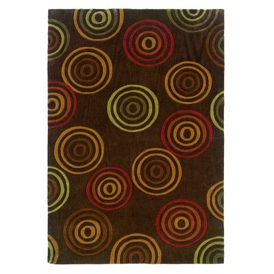 Bumpus Hand-Tufted Chocolate Area Rug Rug Size: 5 x 7