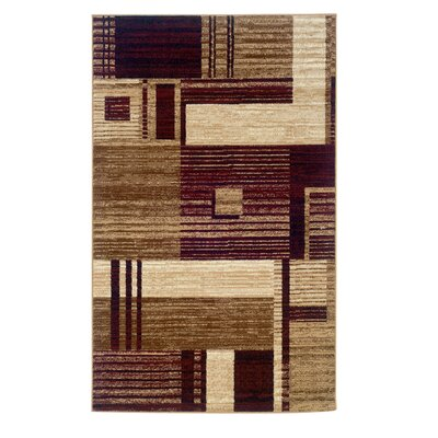 Allmon Brown/Rust Area Rug Rug Size: 73 x 43