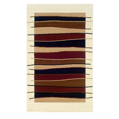 Allmon Cream/Black Area Rug Rug Size: 73 x 43