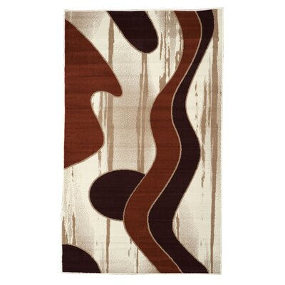 Allmon Ivory/Red Area Rug Rug Size: 43 x 73