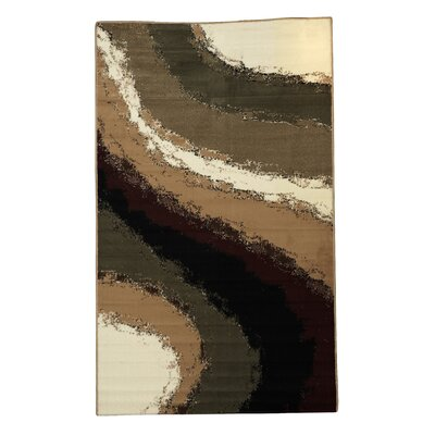 Allmon Brown/Ivory Area Rug Rug Size: 43 x 73