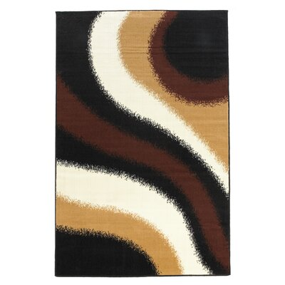 Charlotte Black/Brown Area Rug Rug Size: 73 x 43